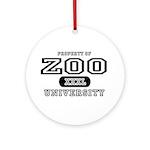 Zoo University Ornament (Round)