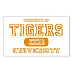 Tigers University Rectangle Sticker