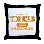 Tigers University Throw Pillow
