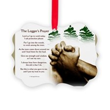 loggingprayer_panelprint Ornament