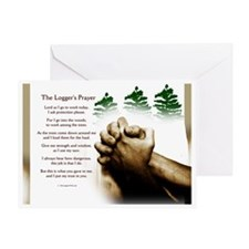 loggingprayer_panelprint Greeting Card