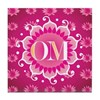 Lotus OM Pink - Tile Coaster