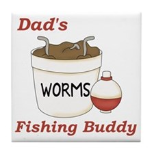 Dads Fishing Buddy Tile Coaster
