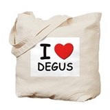 I love degus Tote Bag