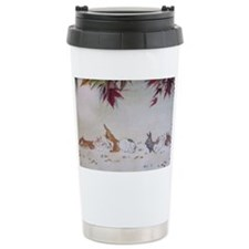Rabbit Nap Ceramic Travel Mug