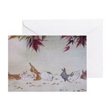 Rabbit Nap Greeting Card