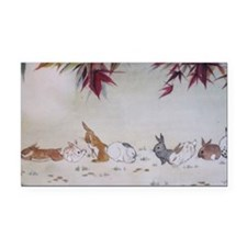 Rabbit Nap Rectangle Car Magnet