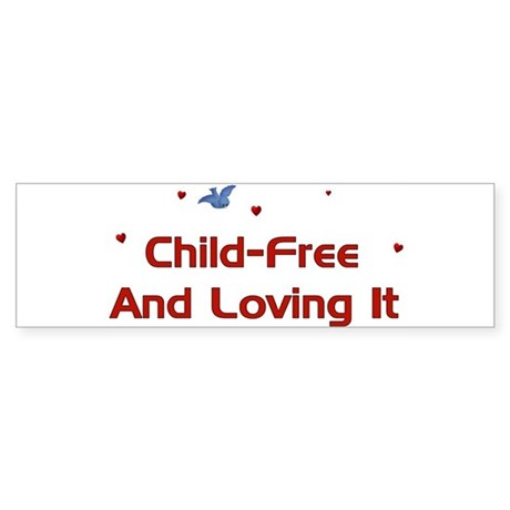 Child Free Bumper Sticker