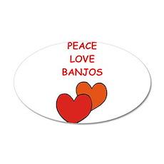 banjo Wall Decal