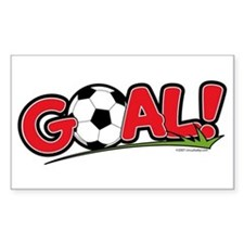 GOAL! Soccer Rectangle Decal