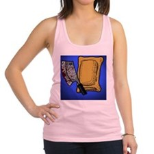 Blue Pizza Roll Racerback Tank Top
