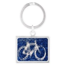 Bicycle Landscape Keychain
