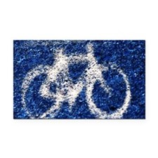 Bicycle Rectangle Car Magnet