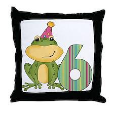 froggiesix Throw Pillow