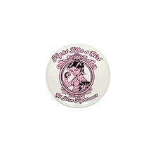 bjj fighter(girl) Mini Button