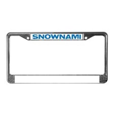 SNOWNAMI License Plate Frame