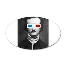 Edgar Allan Poe 3D Glasses Altered Art Wall Decal