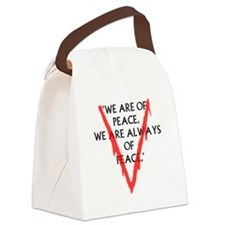 We are of PeaceLarge Canvas Lunch Bag