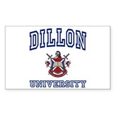 DILLON University Rectangle Decal