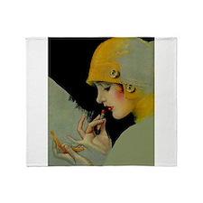 Art Deco Roaring 20s Flapper With Lipstick Throw B