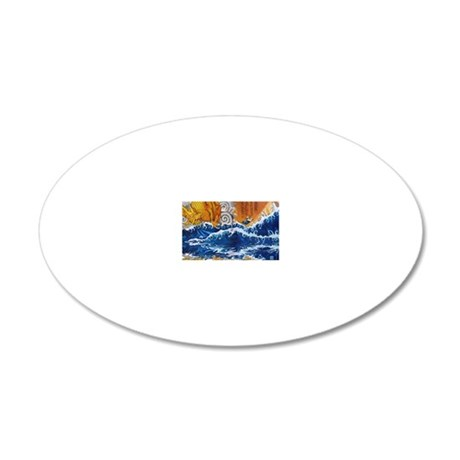 samuraimonk11x17 posters 20x12 Oval Wall Decal
