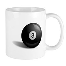 Pool Eight Ball Small Mugs
