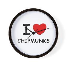 I love chipmunks Wall Clock