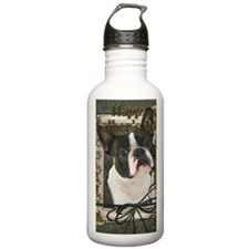 Stone_Paws_Boston_Terr Water Bottle