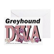 GreyhoundDiva Greeting Card