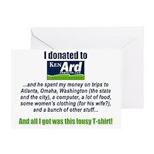 Lousy Ken Ard T-shirt Greeting Card