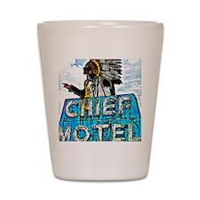 Chief Motel Shot Glass