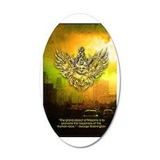 FreemasonryHumanRace 20x12 Oval Wall Decal