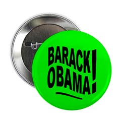 Barack Obama! Lime Green Button