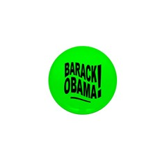Barack Obama! Lime Green Mini Button