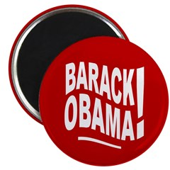 Barack Obama! Red Magnet