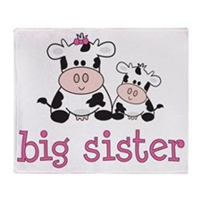 cow big sister Throw Blanket