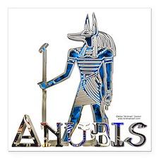 "Anubis 3D Square Car Magnet 3"" x 3"""