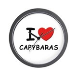 I love capybaras Wall Clock
