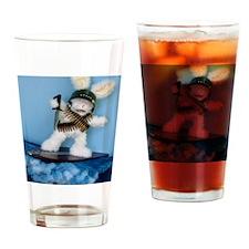 SillyRabbit-T-shirt Drinking Glass