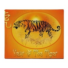 Year Of The Tiger 2010-Yardsign Throw Blanket