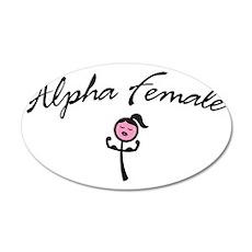 Alpha Female 35x21 Oval Wall Decal