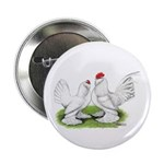 White d'Uccle Bantams Button