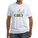 White d'Uccle Bantams Fitted T-Shirt