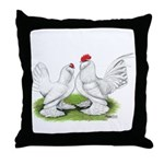 White d'Uccle Bantams Throw Pillow
