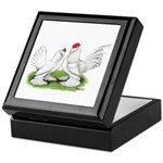 White d'Uccle Bantams Keepsake Box