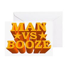 ManvsBooze_Color Greeting Card