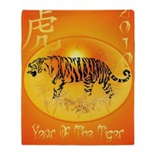 Year Of The Tiger 2010 PosterP Throw Blanket