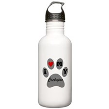 I Heart My Cockapoo Water Bottle
