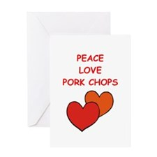 pork,chop Greeting Cards