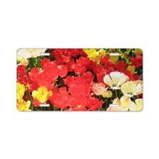 descanso_flowers8 14x6 Aluminum License Plate